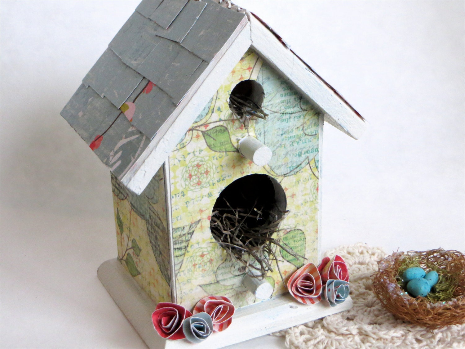 Spring Bird House Decorative Birdhouse Birdhouse Ornament
