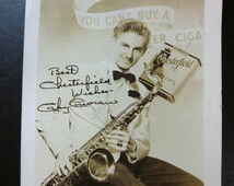 Vintage Chesterfield Wishes-Corky Corcoran Photo-Real Autograph C.1940'S