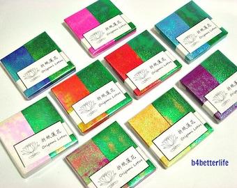 Lot of 9 packs Origami Lotus DIY Paper Folding Kit for making 18pcs of Medium size Paper Lotus. (TX paper series).