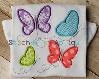 Spring Butterflies Machine Applique Design