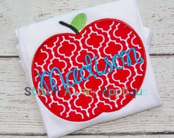 Simple Apple Back to School Machine Applique Design
