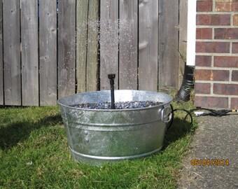 Wash Tub Water Fountain Electric