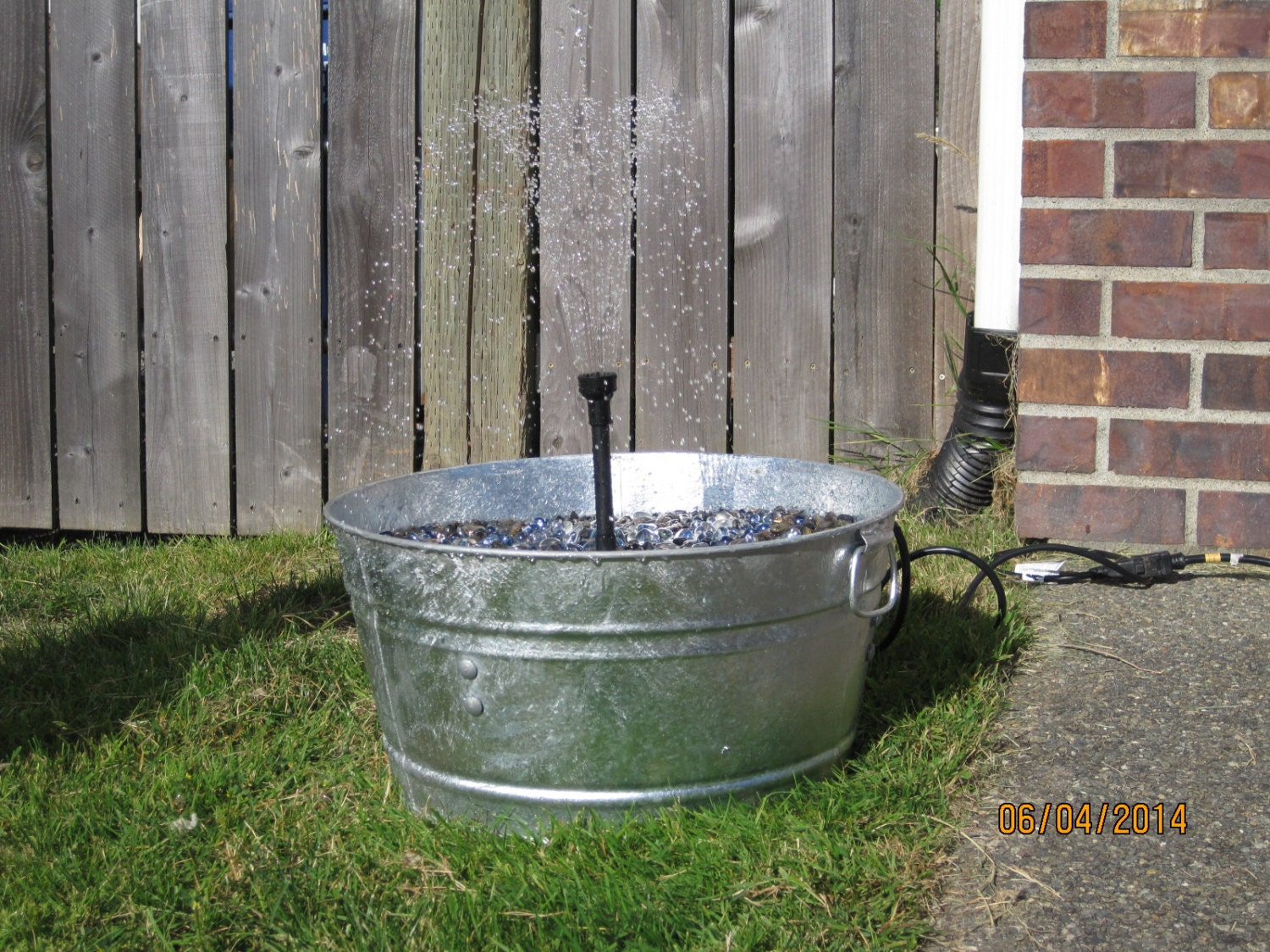 items similar to wash tub water fountain electric on etsy