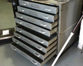 Large Document Industrial File Drawer Two Section 8 Drawers PRICE REDUCED!!!