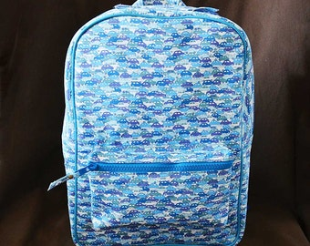 Kids backpack (M) :  LIBERTY Cars (Blue)