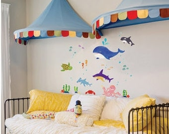 Ocean Wall Decal / Under The Sea Wall Decal Sticker Part 69