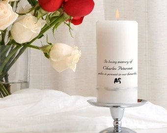 Personalized Memorial Candle | Wedding Memorial Candles_325