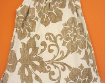 Gold and silver swirly pillowcase style dress