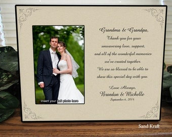 Wedding Grandparent Picture Frame Personalize Keepsake Picture Frame