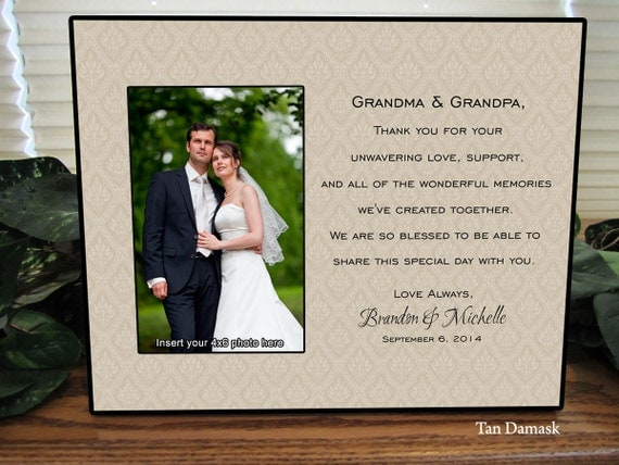 Wedding Gifts For Parents And Grandparents : Wedding Gift For Grandparents Personalize Keepsake Picture Frame