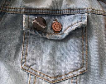 Coast girl button badge black