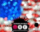 July 4th 36in x 24in Photo Backdrop, 4th of July Bokeh Backdrop, Bokeh Photo Backdrop, ADDTL SIZES AVAILABLE{july1}