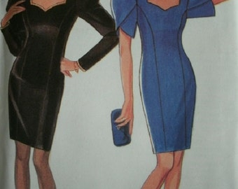 Misses Classic Evening Dress Sizes 6-8-10-12-14-16 New Look by Simplicity Pattern 6635 Vintage 1993
