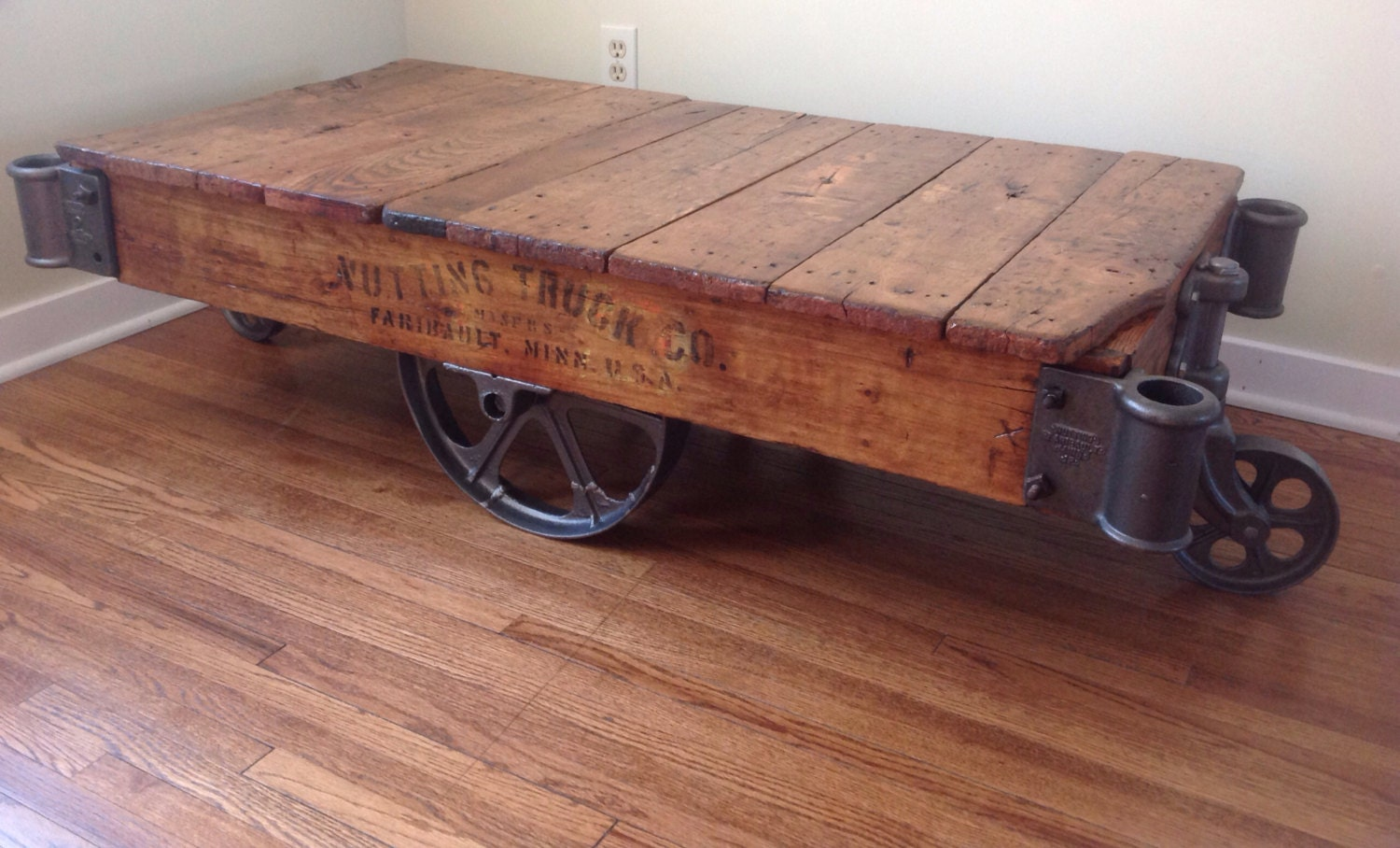 Nutting Warehouse Cart Coffee Table By Ferrousfurnishings On Etsy