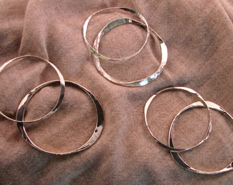 Sterling Silver Bangles (heavy and thin)