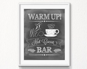 Hot Cocoa Bar Instant Download New Year Cocoa Bar