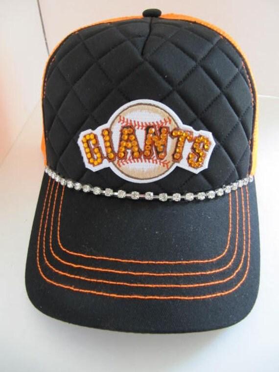 trucker hat giants hat sf giants bling hat by theapicellaedge