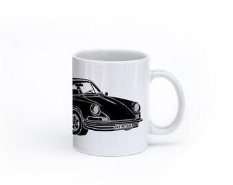 KillerBeeMoto:  U.S. Made Limited Release German Engineered Sports Car Coffee Mug (White)