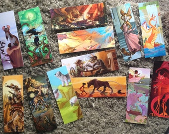 fantasy bookmarks dragons and more each with unique front and back