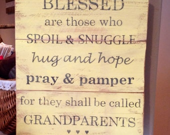 Blessed Grandparents Sign