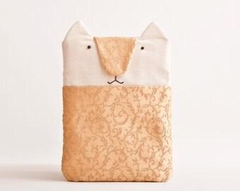 Gold iPad mini Case, iPad Mini Cover, iPad mini sleeve, Cat