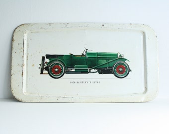 Vintage Tray 1926 Bentley 3 Litre Serving Tray Wall Display