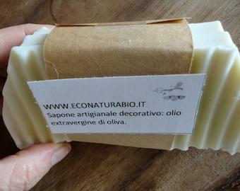 Sapone naturale artigianale con 100% olio extravergine di oliva 1 kg, saponificazione a freddo, Mens gift, soap for him, Ecodermocompatibile