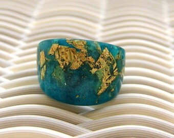 Resin Ring, Palm Beach Ocean Blue Cabana Resin Ring, 2015 Jewelry, Vacation Rings, ResinHeavenUSA