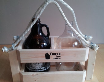 Thor - Growler carrier made to hold and tote two beer growlers.
