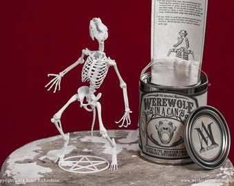 Werewolf in a Can 3D Print Taxidermy Poseable Figure