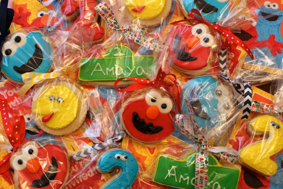 Sesame Street Decorated Cookies