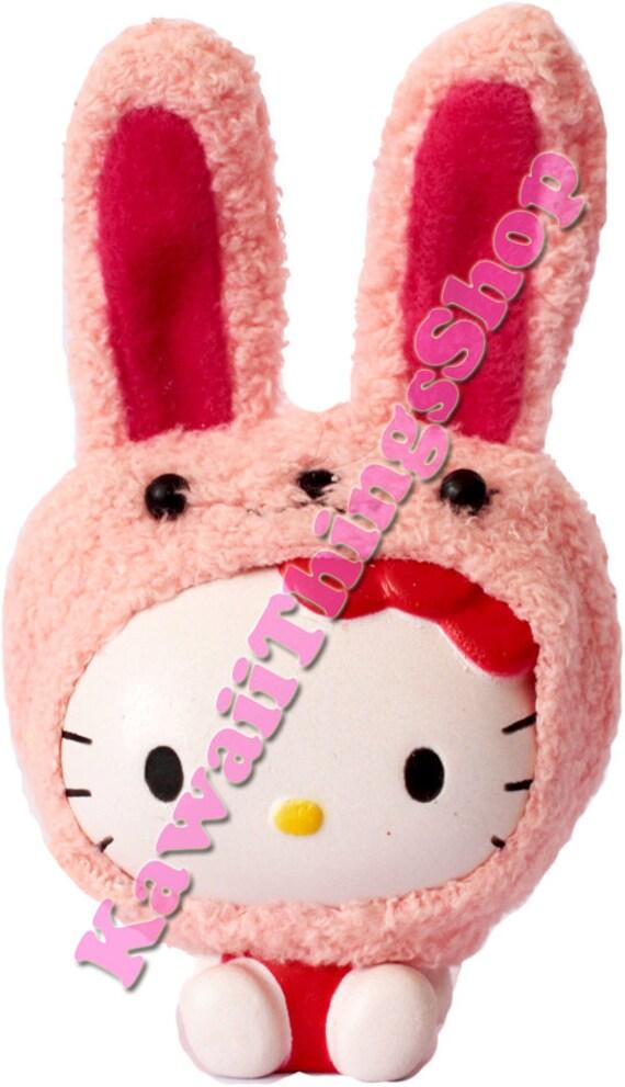 Squishy Bunny Etsy : RARE Sanrio Hello Kitty Bunny Costume Squishy by Kawaiithingsshop