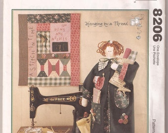 McCalls 8206 Sewing Doll with Quilt Pattern