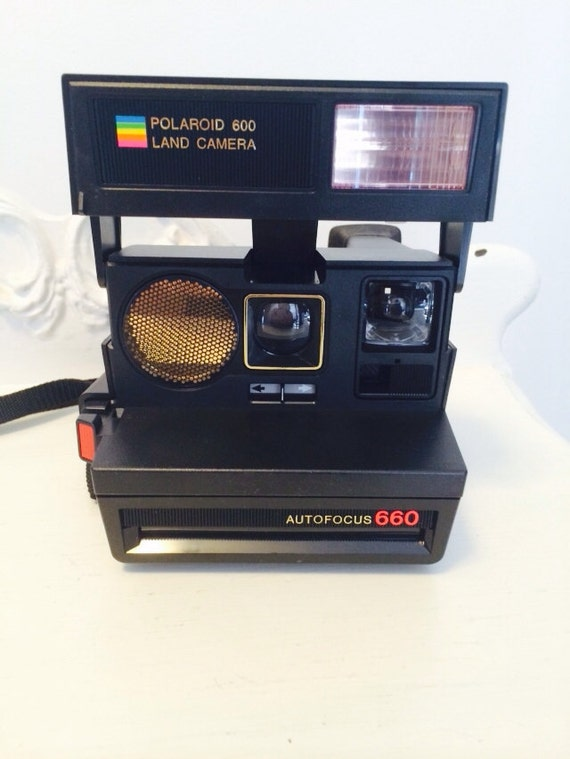 vintage polaroid autofocus 660 land camera. Black Bedroom Furniture Sets. Home Design Ideas