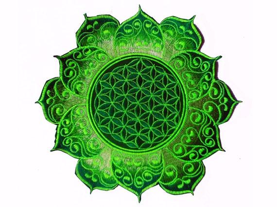 celtique g om trie sacr e de la mandala vert fleur de vie. Black Bedroom Furniture Sets. Home Design Ideas