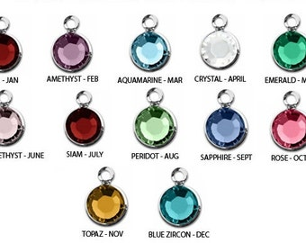 ADD ON - ONE Swarovski Crystal Birthstone Channel Drop Charm