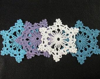 Crochet Colorful Lace Snowflakes