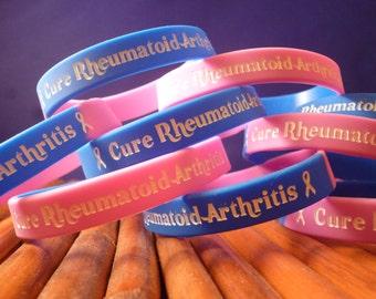 Four Rheumatoid Arthritis Awareness Wristbands