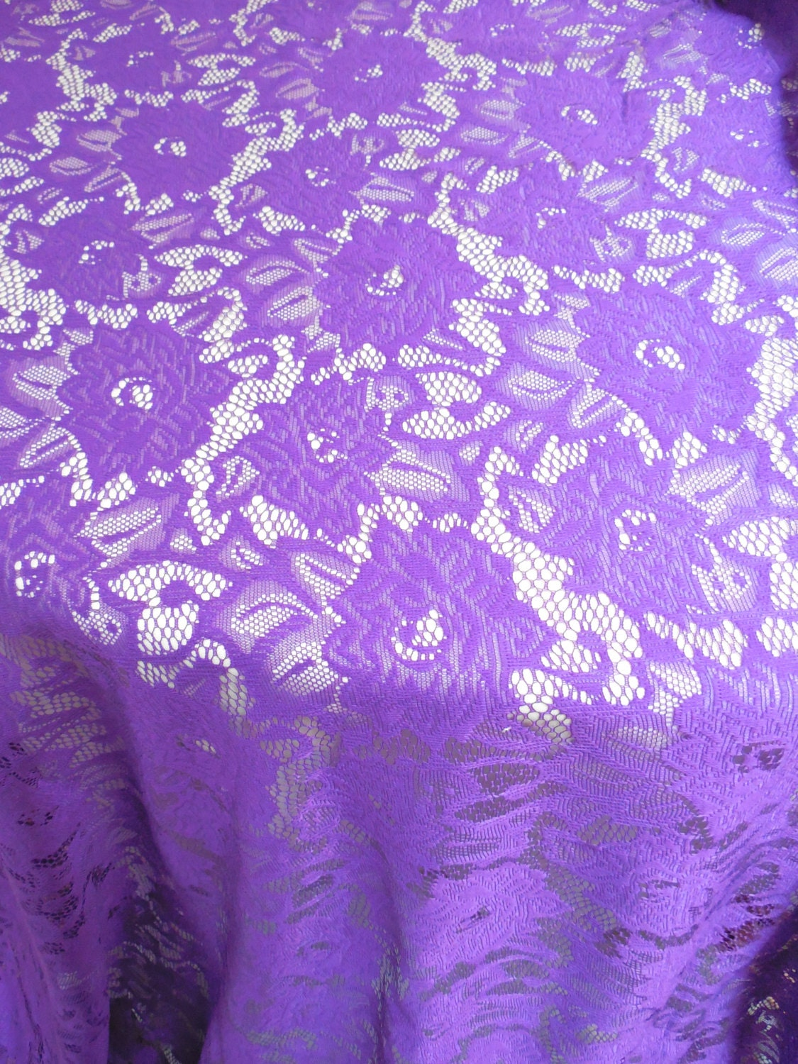 Purple Lace Overlay Wedding Tablecloth Party Shower Wedding