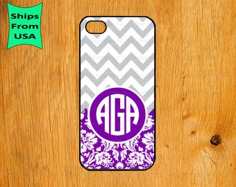 iPhone 6/6s Case, Chevron Pattern Monogram iPhone 5s Case, Damask Pattern iPhone 5c Cover, iPhone 4 4s Cases,iPhone SE Case