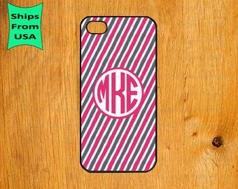 iPhone 6/6s Plus Case, iPhone 6/6s Case, Stripe Pattern Monogram iPhone 5s Case, iPhone 5c Cover, iPhone 4 4s Cases,iPhone SE Case