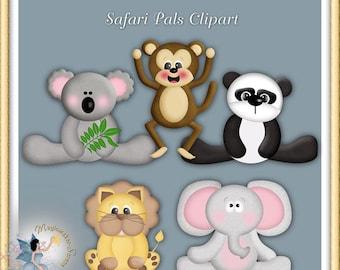 Safari Animals Digital Scrapbook Commercial use Clipart