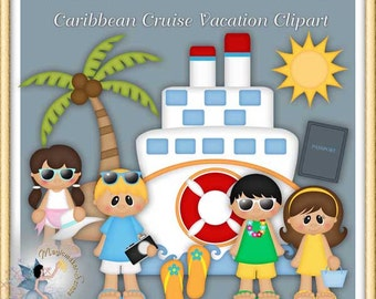 Caribbean Cruise Vacation Clipart