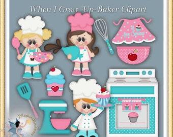 Cupcake Baker Clipart, When I Grow Up