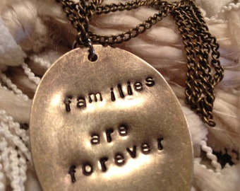 Families are Forever bronze oval