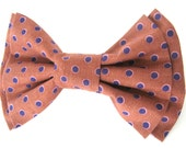 Dog Bow Tie Small Medium Large Cinnamon Polka Dot Bowtie