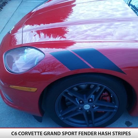 corvette grand sport fender hash mark stripes c6  u0026 39 05