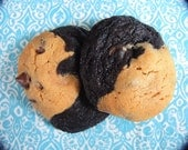 Ying Yang Cookies - Chocolate Peanut Butter Chocolate Chip Cookies