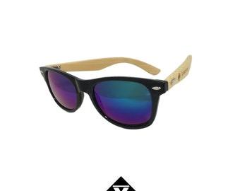 Purple Moonlight Natural Wood Bamboo - Sunglasses - B-Stock