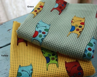 Cotton Fabric Fox in 2 Colors By The Yard
